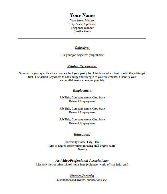 Pdf Resume Template Template Business