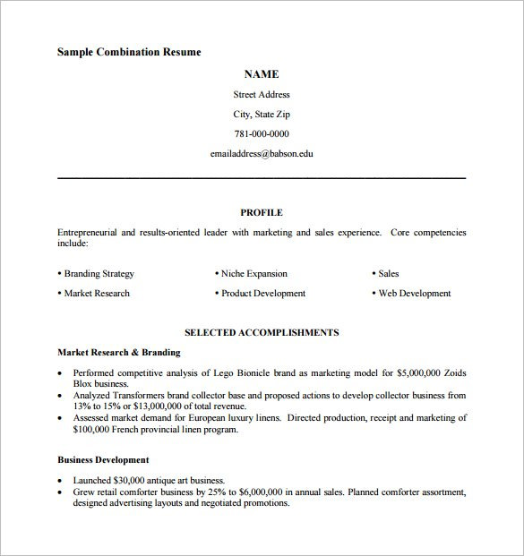 Pdf Resume Template Template Business - Pdf Resume Template