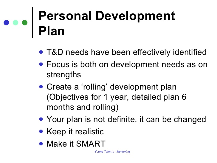 Personal Development Plans Example Template Business