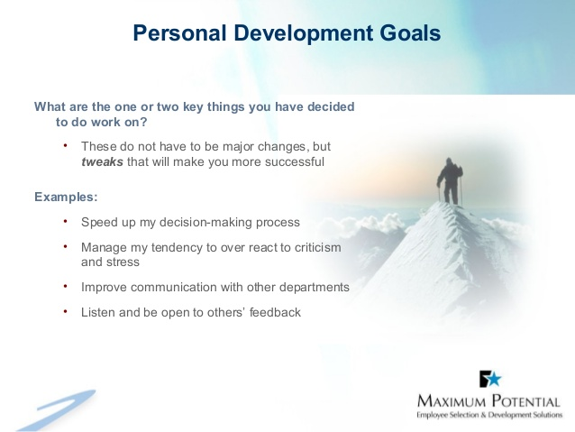 Personal Goals Examples Template Business