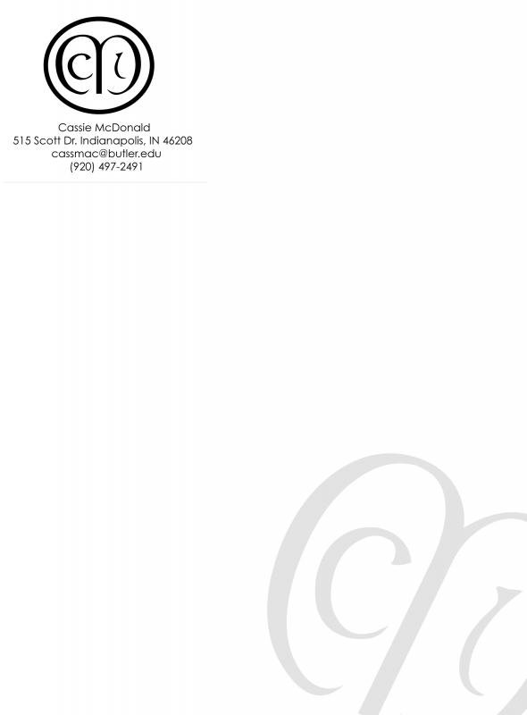 Personal Letterhead Template Template Business