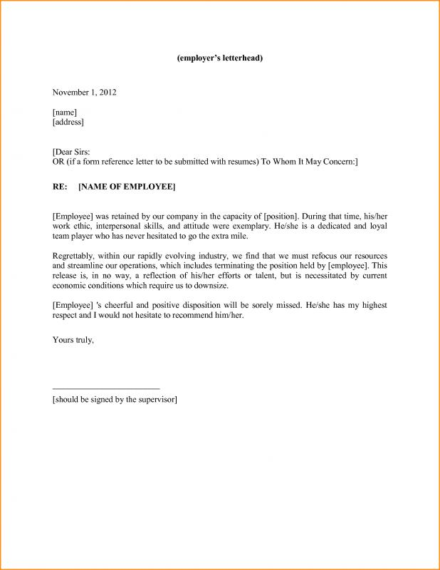 Personal Reference Letter Template Template Business
