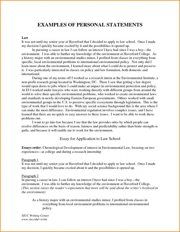 Personal Statement For Graduate School Examples Template Business