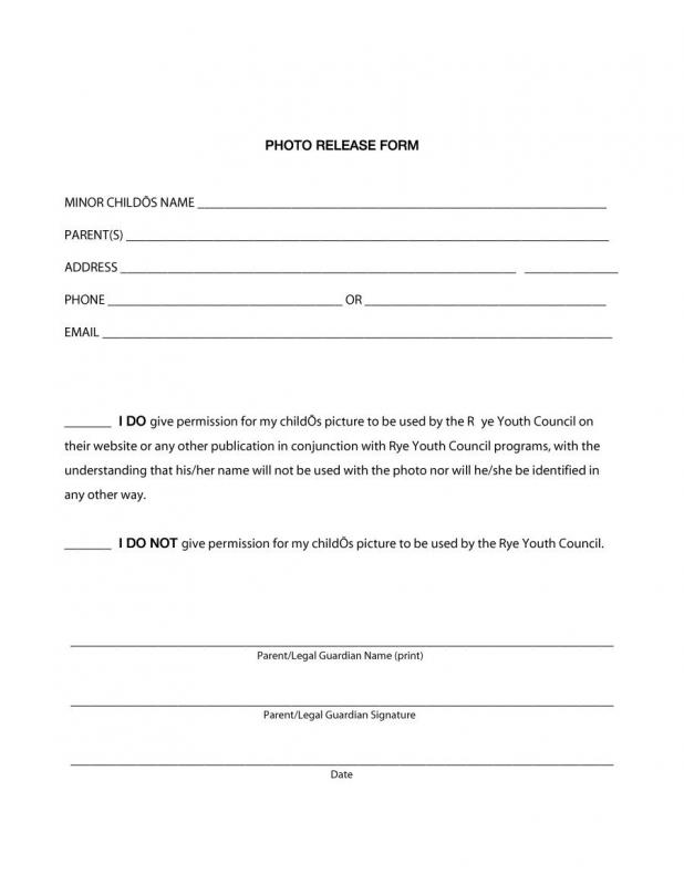 Photography Release Form Pdf Template Business - photography release form