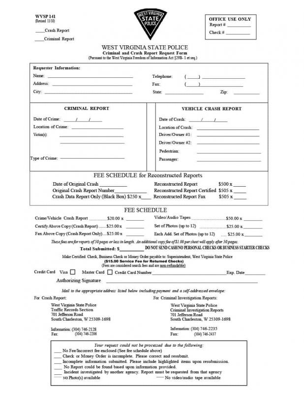 Police Report Sample Template Business - crime report template