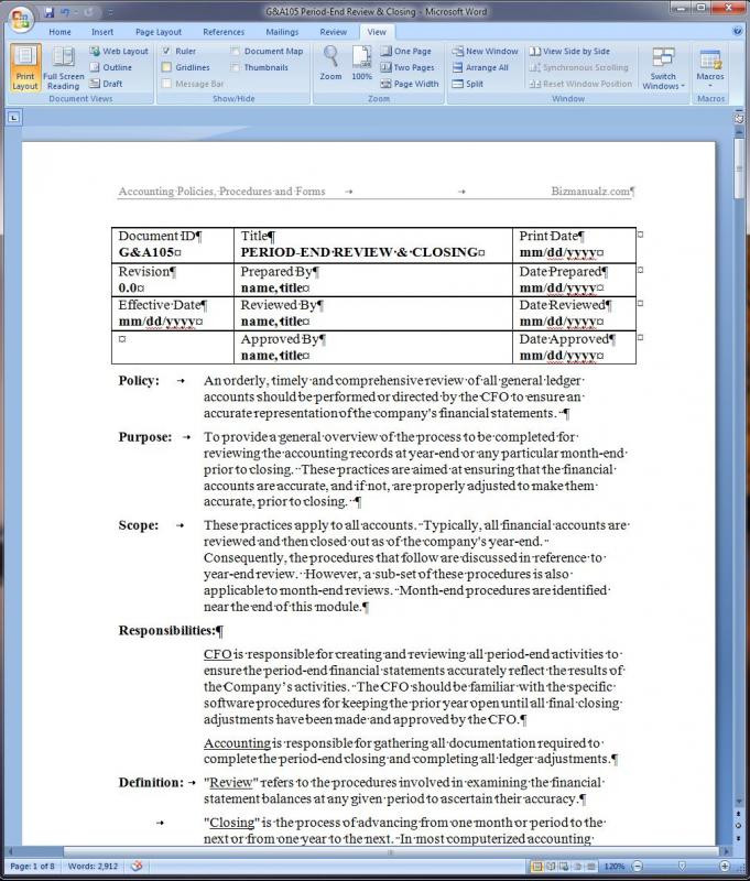 procedure documentation templates - Josemulinohouse - policy and procedure template