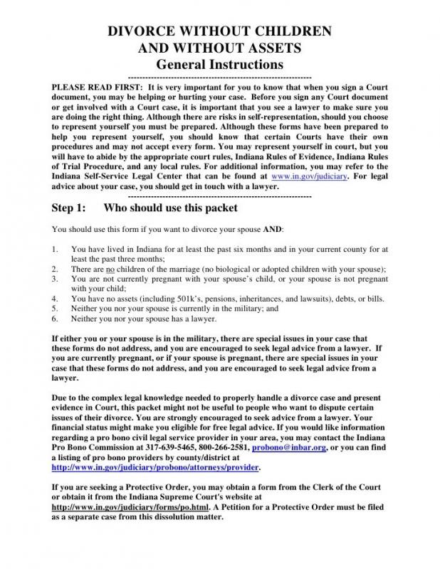 Prenup Agreement Examples Template Business - examples of divorce papers