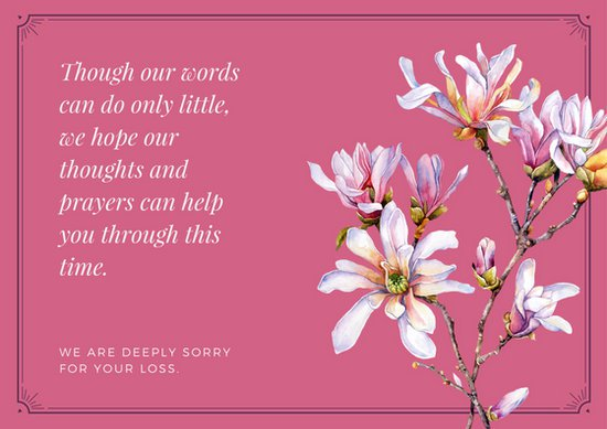 Print Out Sympathy Card Template Business