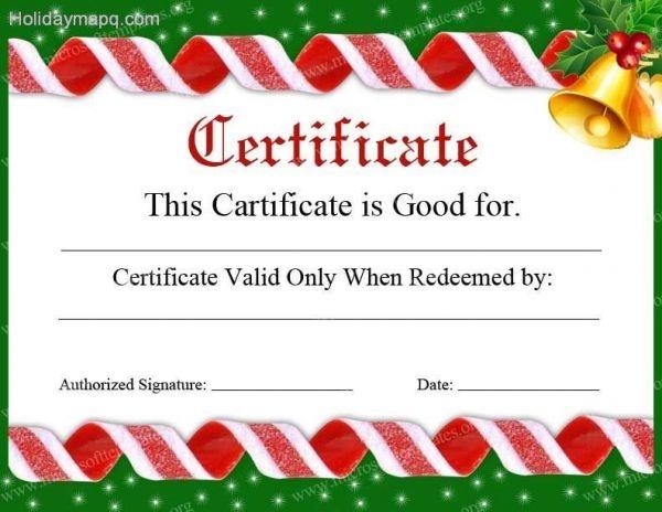 Printable Christmas Gift Certificates Template Business