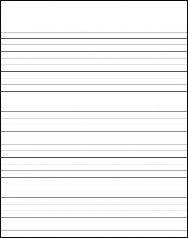 Printable College Ruled Paper Template Business