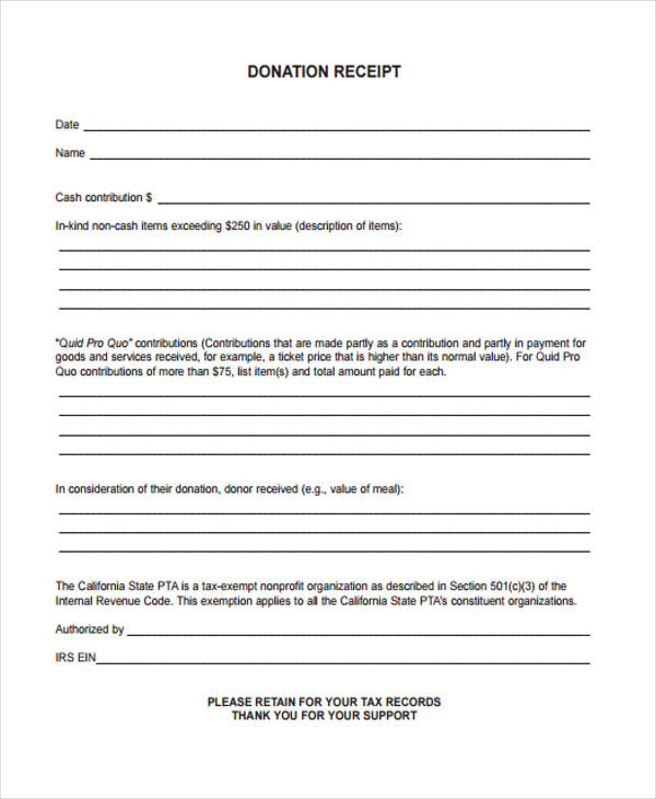 Printable Donation Form Template Template Business - donation form templates