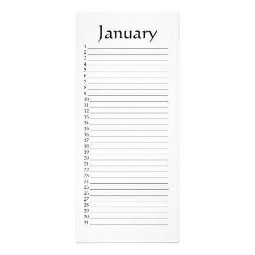 Printable Perpetual Calendar Template Business