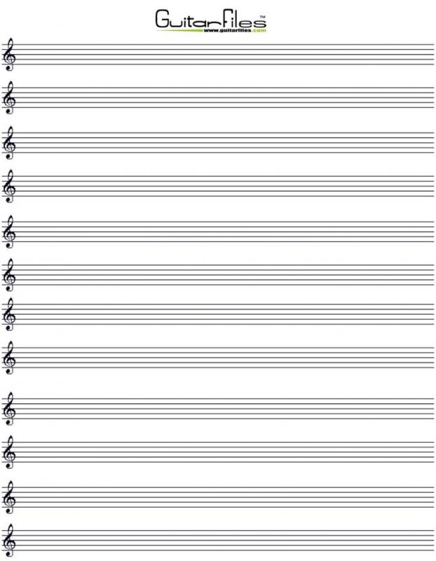 Printable Staff Paper Template Business - music staff paper template