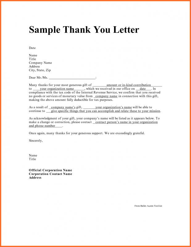 Professional Thank You Letters Employee Thank You Letter
