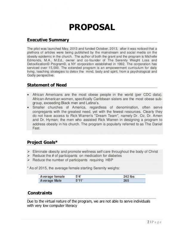 Program Proposal Template Template Business