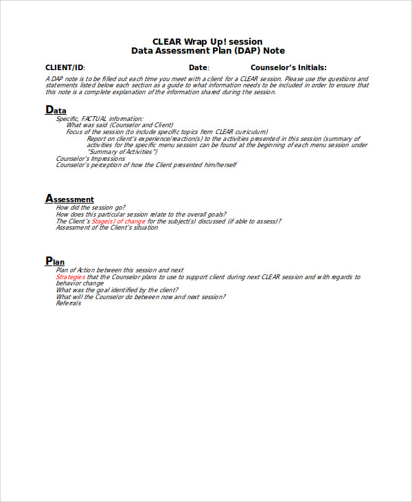 Progress Note Template For Mental Health Counselors Template Business