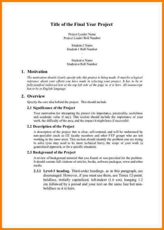 Project Proposal Example Template Business - project proposal format