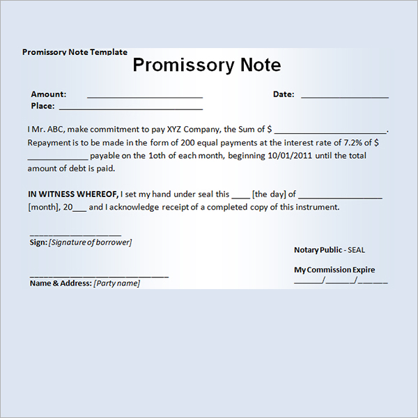 promissory note to pay debt - Funfpandroid