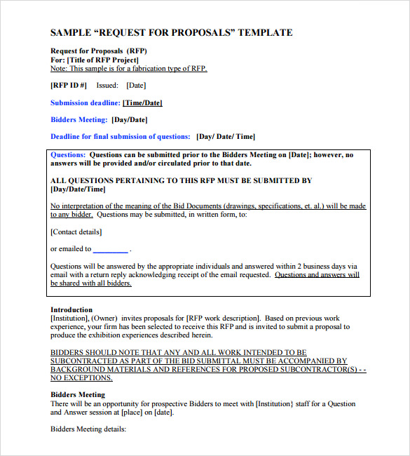 Proposal Template Word Template Business