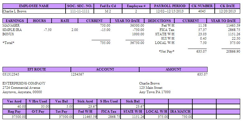 Quickbooks Pay Stub Template Template Business