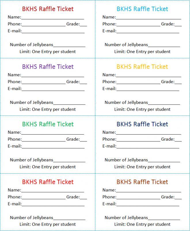 Raffle Tickets Template Template Business