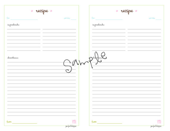 Recipe Card Templates For Word Template Business
