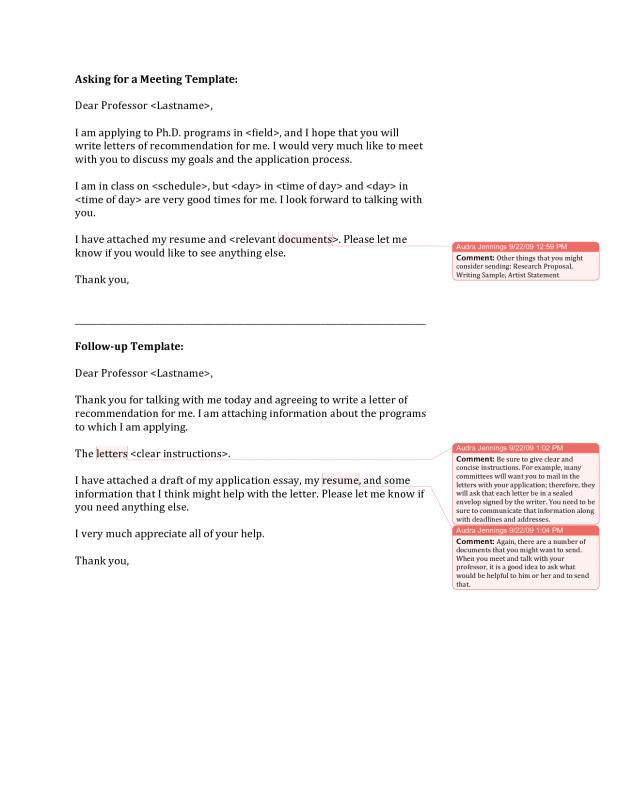 Recommendation Letter For Graduate School From Professor Template - reference letter for school