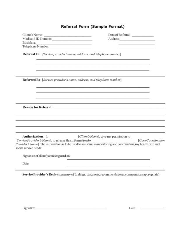 Referral Forms Template Template Business - employee referral form