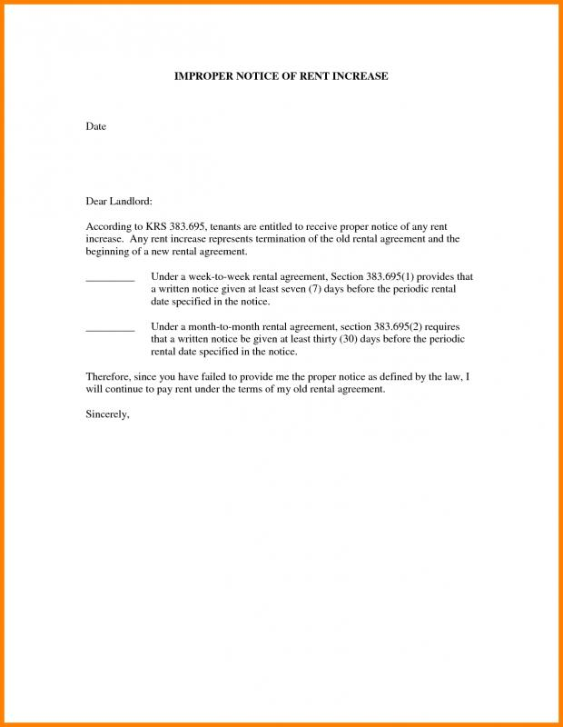 Rent Increase Letter Template Template Business - rent increase letter