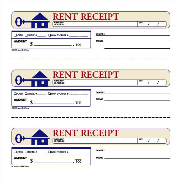 Rent Paid Receipt Template Business
