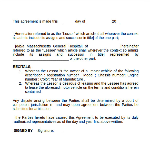 Rent Contract Templates Boat Rental Contract Sample Rental Contract