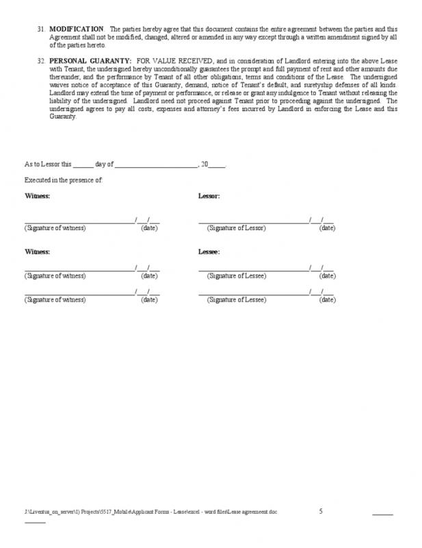 Rental Agreement Forms Template Business