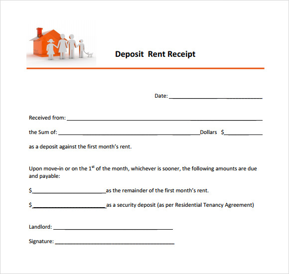 Rental Receipts Format Template Business