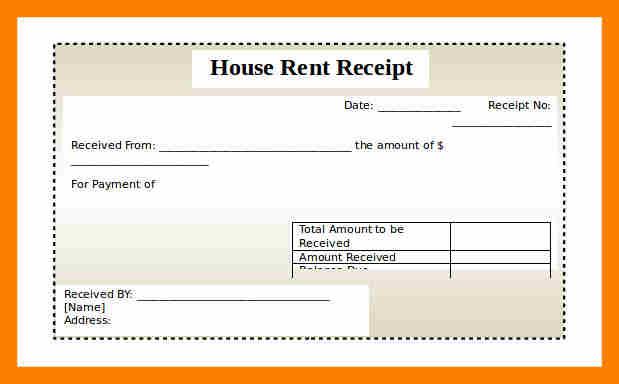 rent paid receipt format - Pinarkubkireklamowe