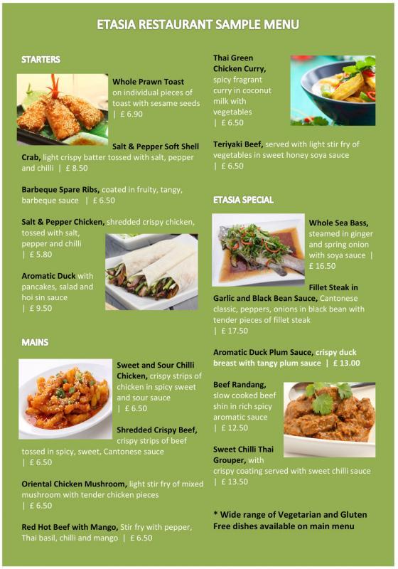 sample restaurant menu - Intoanysearch