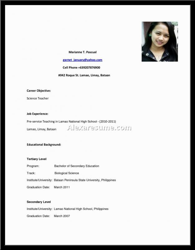 Resume Examples For Highschool Students Template Business