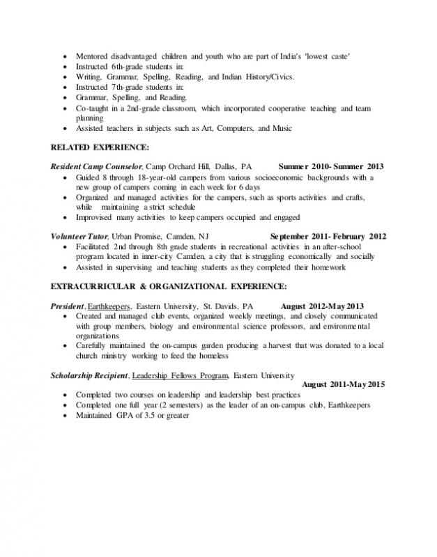 Resume Examples For Students Template Business