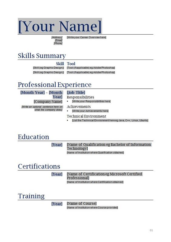 Resume High School Student Template Business