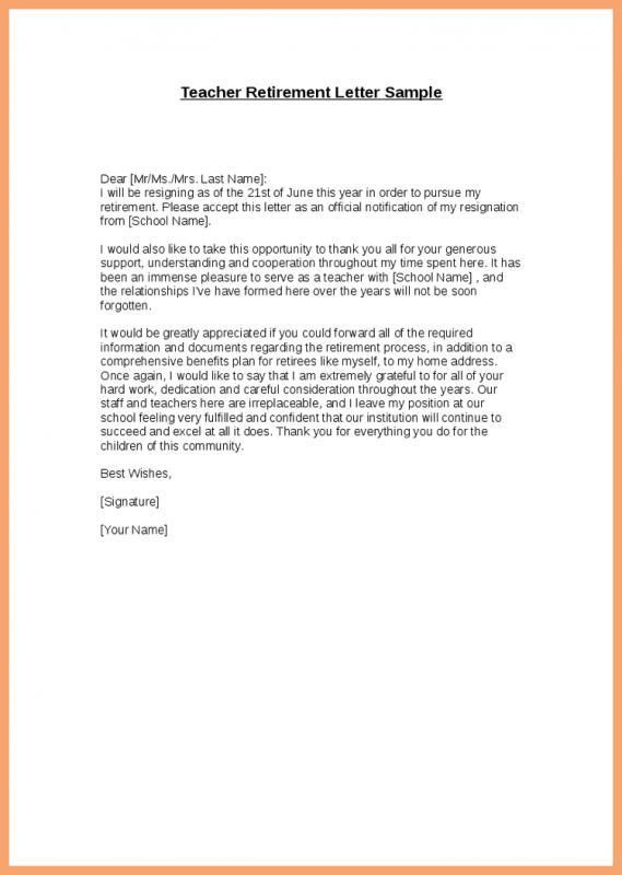 Retirement Letter Samples For Someone Retiring Template Business