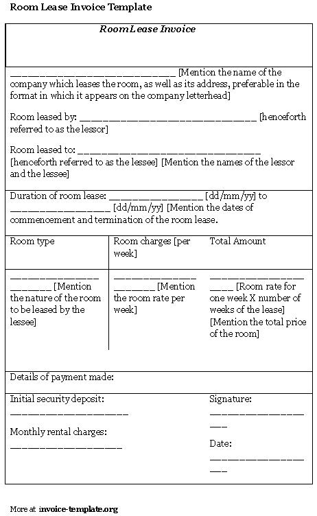 Room Rental Agreement Template Template Business