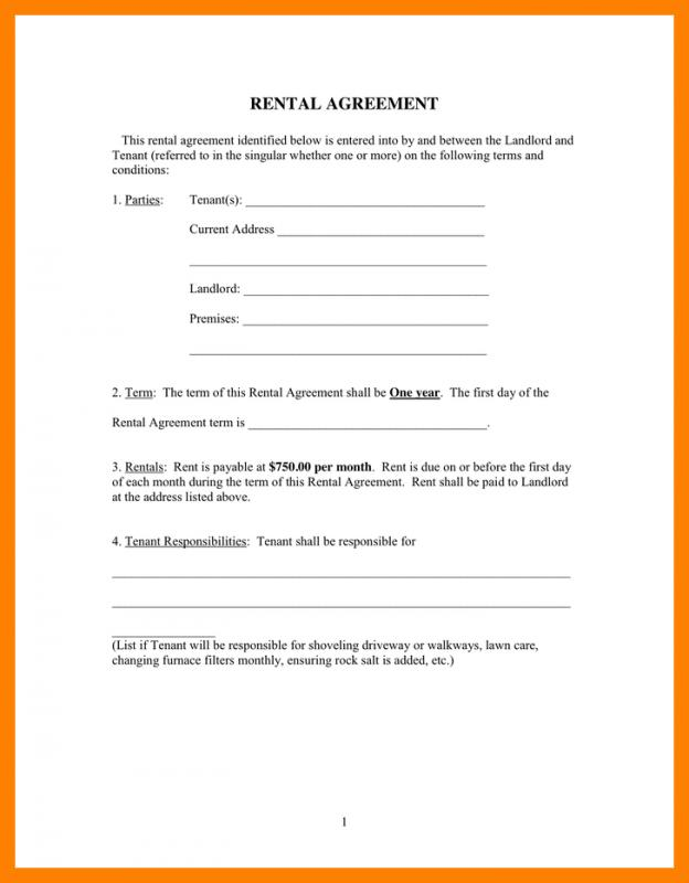 Room Rental Agreement Form - Resume Template Sample - Room Rental Agreement Form