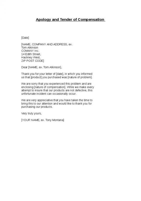 Sales Letters Sample Template Business