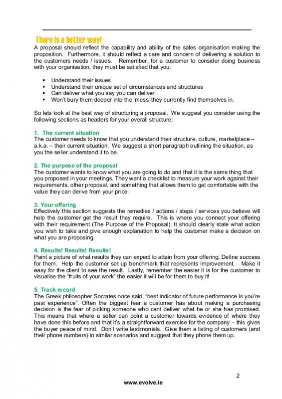 Sales Proposal Example Template Business