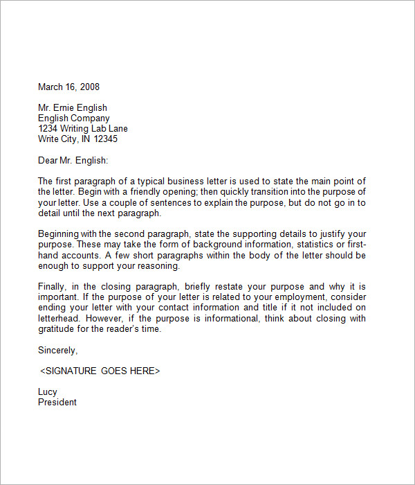 Sample Closing A Business Letter Business Letter Memo Sample - business letter templet