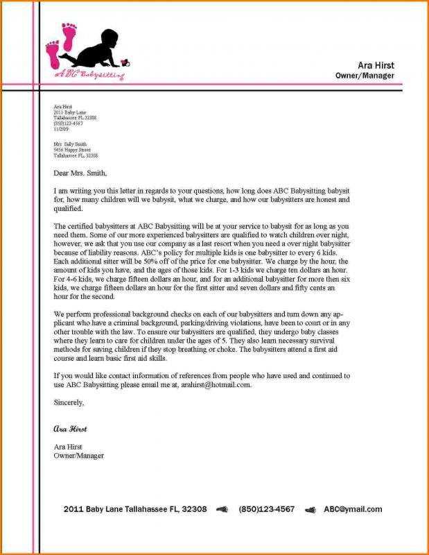 Sample Business Letter Template Business