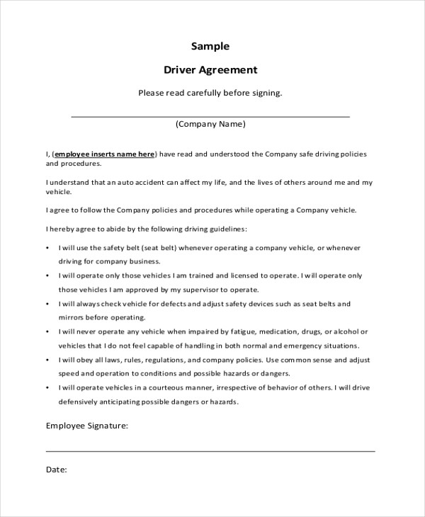 Sample Contract Agreement Template Business