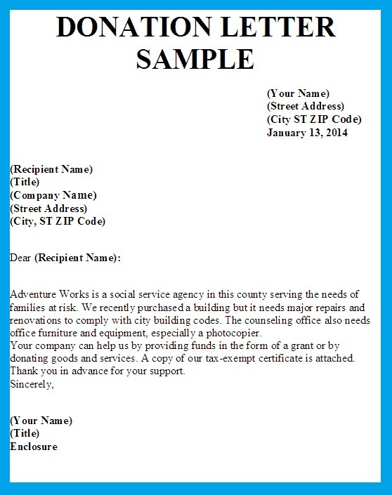 sample letter requesting donations for school supplies - Tower