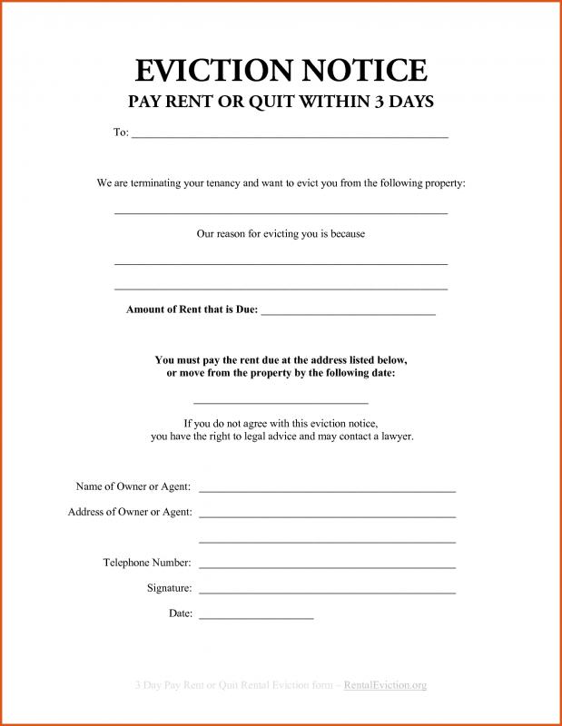 Sample Eviction Notice Template Business - free eviction letter template