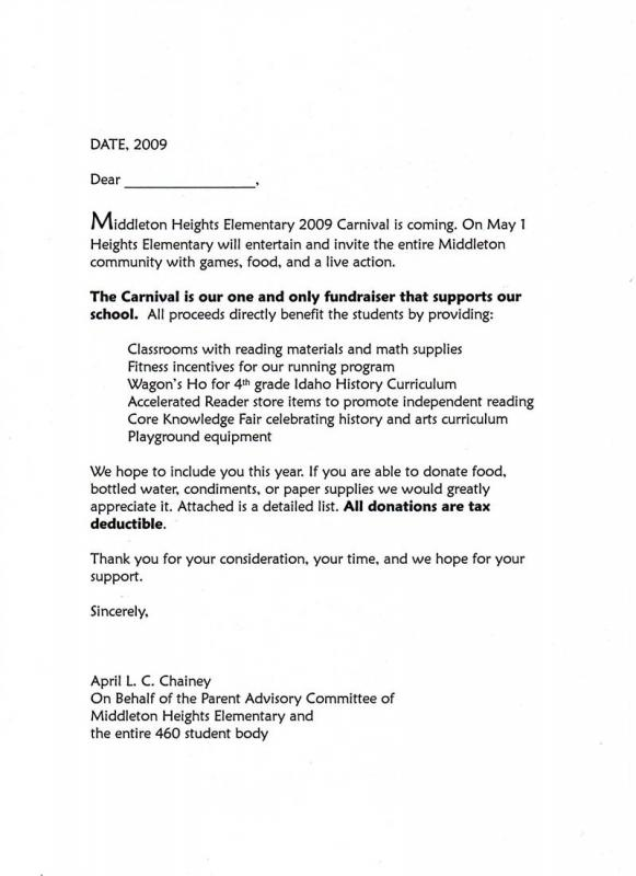 Sample Letter Asking For Donations For School Template Business