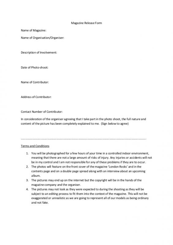 Sample Photography Contract Template Business